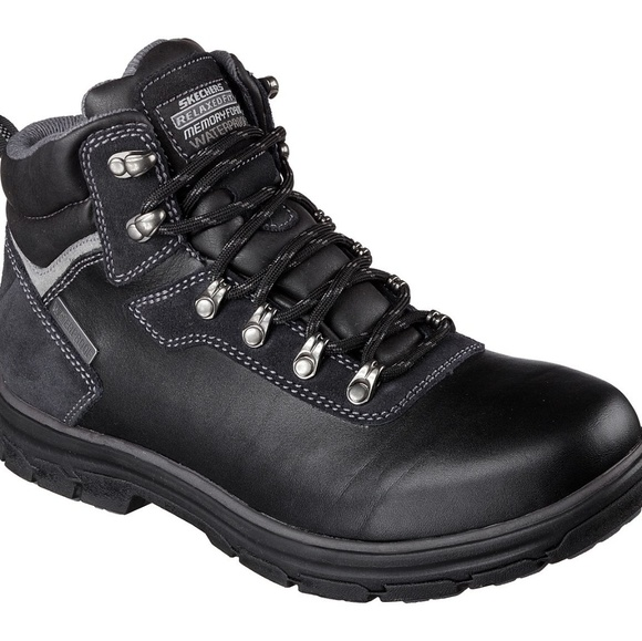 skechers boots waterproof relaxed fit
